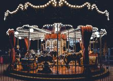 Carousel With Lights Royalty Free Stock Photo