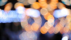 Carousel lights bokeh stock video