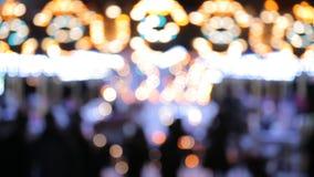 Carousel lights bokeh stock video footage