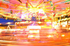 Carousel lights in Christmas Market Royalty Free Stock Image