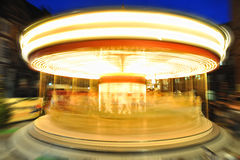 Carousel lights in night royalty free stock photo