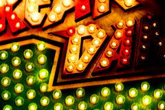 Carousel Lights Sign Closeup Royalty Free Stock Photography