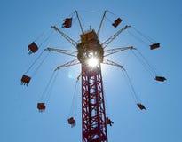 Carousel. Сlimbing carousel at the fair Stock Images