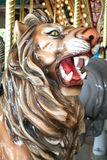 Carousel lion. Vibrant lion on carousel at the Dallas Zoo Royalty Free Stock Images