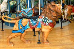 Carousel Lion Royalty Free Stock Images