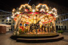 Carousel on the main square in Perugia Royalty Free Stock Images