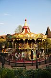 Carousel merry go round. Empty carousel merry go round in amusement park Royalty Free Stock Image