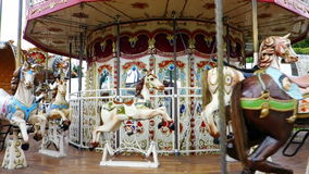 Carousel Merry Go Round Horse Horses stock footage