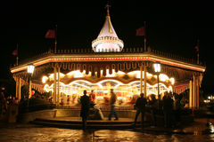 Carousel or merry-go-round in motion blur Royalty Free Stock Image