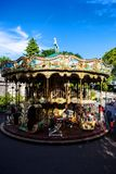 Carousel in Montmartre, Paris. France Stock Photo