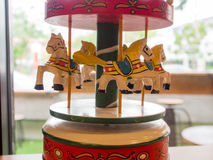 Carousel music box. Near by the window Royalty Free Stock Image