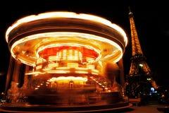 Carousel near Eiffel Tower Royalty Free Stock Image