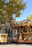 Carousel near the Palais des Papes in Avignon France. Stock Images