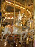 Carousel at night Royalty Free Stock Photo