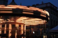 Carousel at night Royalty Free Stock Images