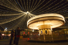 Carousel at night Royalty Free Stock Image