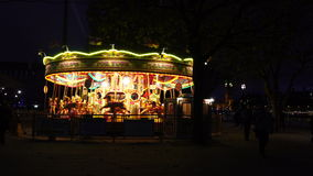 Carousel at Night stock video footage