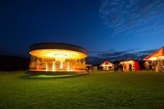 Carousel at night Stock Image