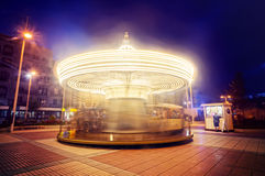 Carousel at night Stock Images