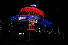 Carousel at night in Perth royalty free stock images