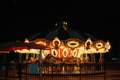 Carousel Night Scene Boca Raton. Carousel at night in Boca Raton Florida - Sugar and Sand Park Royalty Free Stock Image