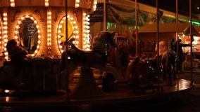 Carousel by Night stock video footage