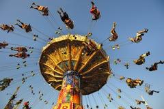Carousel at Oktoberfest in Munich stock photos