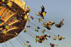 Carousel at Oktoberfest in Munich stock images