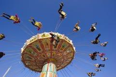 carousel at Oktoberfest in Munich Royalty Free Stock Image
