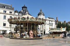 Carousel - Orléans- Francja zdjęcia royalty free