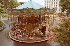 Carousel. Parisian carousel in old style stock image