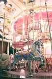 Carousel. Parisian carousel in old style by night royalty free stock image