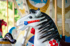 Carousel in a park Royalty Free Stock Image