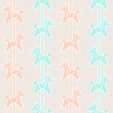 Carousel pattern. Pattern seamless with carousel decoration Stock Photography