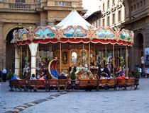 Carousel on Piazza della Repubblica Royalty Free Stock Photo