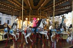Carousel in Piazza Navona Rome Stock Image