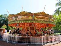 Carousel on the playground in edinburgh,scotland Royalty Free Stock Photography