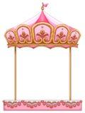 Carousel przejażdżka bez konia royalty ilustracja