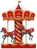 Carousel przejażdżka z koniami ilustracji