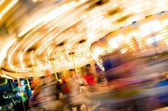 Carousel przy jarmarkiem Fotografia Stock
