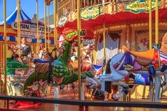 Carousel przy rybaka ` s nabrzeżem Zdjęcia Royalty Free