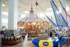 Carousel przy Wolfchase centrum handlowym Galleria i, Memphis, Tennessee Fotografia Stock