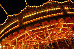 Carousel ride. Blured motion image of a fairground carousel ride Stock Images
