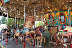 Carousel ride in fairground Royalty Free Stock Image