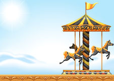 A carousel ride vector illustration