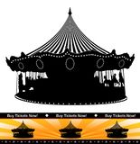 Carousel Ride Silhouette Ticket Isolated Stock Photography