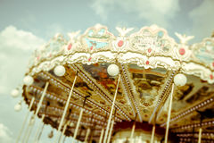 Carousel rocznik Paryż zdjęcia royalty free