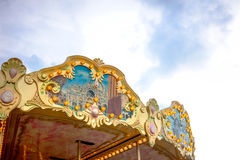 Carousel roof decoration Royalty Free Stock Images