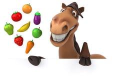 carousel rozochocony rozrywki fairground zabawy koń tradycyjny ilustracja wektor