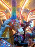 Carousel's horses Royalty Free Stock Images